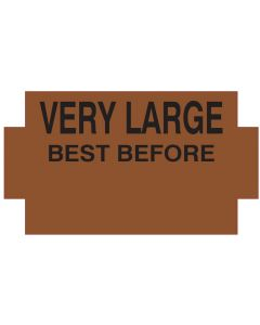 """NOR """"B"""" BEST BEFORE VERY LARGE BROWN"""