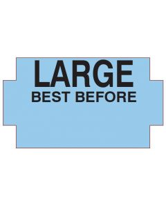 """NOR """"B"""" BEST BEFORE LARGE BLUE"""