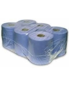 TWO-PLY BLUE CENTREFEED ROLLS